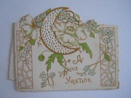 Mignonnette Ajourée Voeux Myosotis Fleurs Lune Mignonette 10 X 7,5 Cm - Fancy Cards
