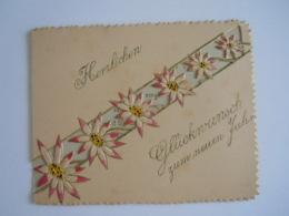 Mignonnette Ajourée Voeux Fleurs Relief Mignonette 11 X 9 Cm - Autres