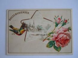 Ticket Dansfeest Boezemvrienden 1894 Antwerpen Met Dansorde Mignonnette Mignonette 10 X 7 Cm - Toegangskaarten