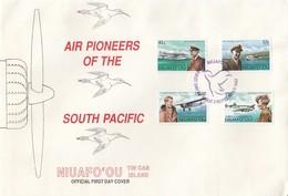GOOD TONGA NIUAFO 'OU FDC 1987 - Air Pioneers Of The South Pacific - Tonga (1970-...)