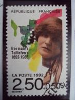 """1990-99   Timbre  Oblitéré N°  2752    """"  Germaine Tailleferre     """"     0.50 - France"""