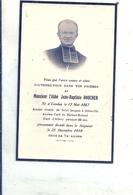 SOMME - 80 - CANDAS - ALLERY - ABBEVILLE - MAISON ROLAND - ALLERY - Carte Mortuaire Abbé Boucher - France