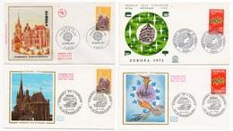 FDC France 1972 - Europa 1972 - YT 1714 Et 1715 - 67 Strasbourg Et Paris - FDC