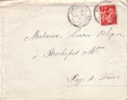 PUY DE DOME - PICHERANDE - T84 DU 14-10-1941 SUR 1F IRIS ROUGE. - Postmark Collection (Covers)