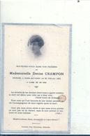 SOMME - 80 - SOREL EN VIMEU - Carte Mortuaire Denise Crampon 1935 - France