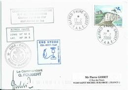 YT 3239 - Dieppe - Cerf Volant - Lettre Postée à Bord Du MD - Alfred Faure - Crozet - 22/02/2000 - Lettres & Documents