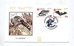 Lettre Cachet Strasbourg Conseil Europa 1986 Theme Hibou - Storia Postale