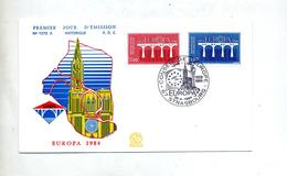 Lettre Cachet Strasbourg Conseil Europa 1984 - Storia Postale
