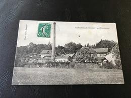 GENEUILLE (Doubs) Les Papeteries - 1907 Timbrée - France