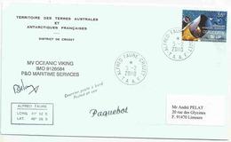 Astronomie - Lettre Postée à Bord Du Oceavic Viking - Alfred Faure - Crozet - 05/02/2010 - Australian Antarctic Territory (AAT)