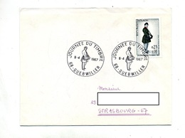 Lettre Cachet Guebwiller Journee Du Timbre 1967 - Cachets Commémoratifs