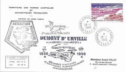 YT 199 - Station SODAR - étude Des Vents Catabatiques - Dumont D'Urville - 28/01/1996 - 1ere Mission D'Heliunion - Terres Australes Et Antarctiques Françaises (TAAF)