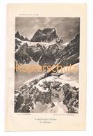 001 Zeno Diemer Augsburger Hütte Lechtaler Alpen Lichtdruck 1894!! - Estampes