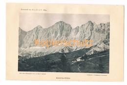 002 Austriahütte Dachsteingebirge Alpen Alpenverein Berghütte Kunstblatt Lichtdruck 1894!! - Unclassified
