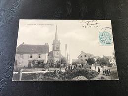 AUDIBCOURT Eglise Catholique - 1905 Timbrée - France