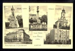 HUNGARY - Hatvan / Visible Traces Of Bending / Postcard Circulated, 2 Scans - Hungary