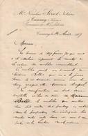 Tannay (Nièvre) - Lettre De Nicolas Sirot Notaire 1907 - Non Classés