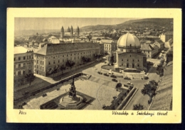 HUNGARY - Pecs Varaskep A Szechenyi Tessel / Postcard Circulated, 2 Scans - Hungary