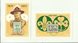 "**2  X BADEN  POWELL        **--""""1857-1957    """" - Scoutisme"