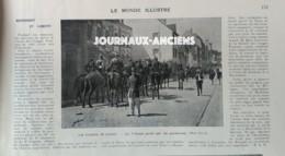 1903 HENNEBONT ET LORIENT - LES TROUBLES DE LORIENT - LE TRIBUNAL GARDÉ PAR LES GENDARMES - 1900 - 1949