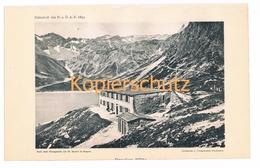 006 Douglasshütte Rätikon Alpen Alpenverein Berghütte Kunstblatt Lichtdruck 1894!! - Unclassified