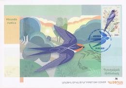 Armenia Arménie Armenien 2019 FDC International. Europa Europe National Birds Hirundo Rustica - Armenia