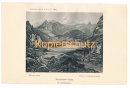 009 Funtenseehaus Kärlingerhaus Alpen Lichtdruck 1894!! - Drucke