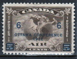 Canada 1934 Single 5 Cent Stamp To Celebrate The Ottawa Conference With 6c Overprint. - Unused Stamps