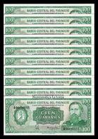 Paraguay Lot Bundle 10 Banknotes 100 Guaraníes L.1952 (1982) Pick 205 Sign 4 UNC - Paraguay