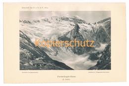 009 Funtenseehaus Kärlingerhaus Alpen Lichtdruck 1894!! - Estampes