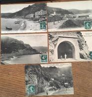 5 CPA, Philippeville,Algérie, Route De La Corniche Et Plage De Stora - Skikda (Philippeville)