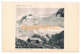 012 Greiz Greizer Hütte Zillertaler Alpen Alpenverein Berghütte Kunstblatt Lichtdruck 1894!! - Unclassified