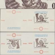 Congo Kin 1967 COB Bl. 22. 2 Essais De Blocs En Paires. Exposition Universelle De Montréal, Congolais Et Cor - 1967 – Montreal (Canada)