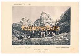 014-2 Hinterbärenbad Anton Karg Haus Alpenverein Berghütte Kunstblatt Lichtdruck 1894!! - Unclassified