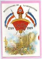BICENTENAIRE DE LA REVOLUTION FRANCAISE 1789 1989 TBE Systeme Disque Histoire N° 1 Carte Vierge TBE - History
