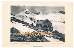 017 Kürsinger Hütte Bergsteiger Bergsteiger Alpenverein Berghütte Kunstblatt Lichtdruck 1894!! - Unclassified