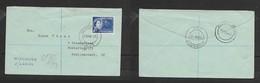 South West Africa, EIIR 6d Coronation Registered WINDHOEK 13 VIII 53  > STELLENBOSCH 17 AUG 53, - South West Africa (1923-1990)