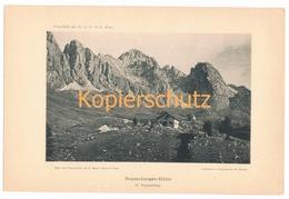 022-2 Regensburger Hütte Rifugio Frenze Alpenverein Berghütte Kunstblatt Lichtdruck 1894!! - Unclassified
