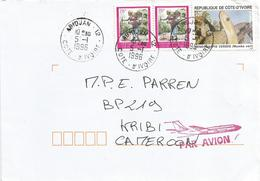 Cote D'Ivoire 1996 Abidjan Snake Green Mamba Cover - Slangen