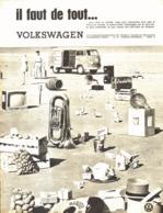 "PUB COMBI "" VOLKSWAGEN "" 1961 ( 1 ) - Autres"