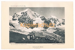 024 Schaubachhütte Rifugio Citta Di Milano Ortler Alpenverein Berghütte Kunstblatt Lichtdruck 1894!! - Unclassified