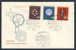 Deutschland Germany 1964 FDC + Mi 440 /2 YT 310 /2 Sc 892 /4 - Fortschritt In Technik, Wissenschaft / Scientific Anniv. - Wetenschappen