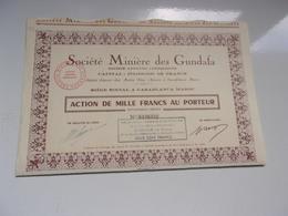 MINIERE DES GUNDAFA (casablanca-maroc) Capital 175 Millions - Actions & Titres