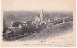 28 Eure Et Loir -  EPERNON - Vue Générale Prise Des Carrières - Dos Simple - Epernon