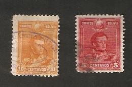 Bo4-12-1. America Correos De BOLIVIA 5 10 Centavos 1899 - 1900 - Bolivia