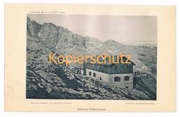 026 Simonyhütte Dachsteingebirge Alpen Alpenverein Berghütte Kunstblatt Lichtdruck 1894!! - Unclassified