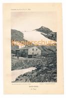 027 Stüdlhütte Großglockner Gletscher Alpenverein Berghütte Kunstblatt Lichtdruck 1894!! - Unclassified
