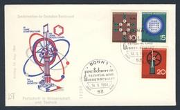 Deutschland Germany 1964 Cover Brief + Mi 440 /2 YT 310 /2  - Fortschritt In Technik, Wissenschaft / Scientific Anniv. - Sciences
