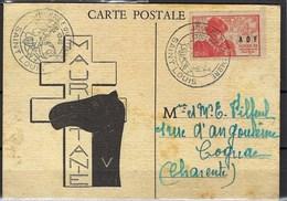 France, MARCOPHILIE, Carte Illustrée, Mauritanie - Journée Du Timbre 1946, Saint Louis - Cartes-Maximum