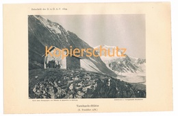 028 Taschachhütte Ötztaler Alpen Alpenverein Berghütte Kunstblatt Lichtdruck 1894!! - Unclassified
